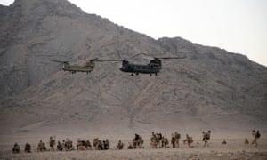 British troops in Afghanistan in 2009.