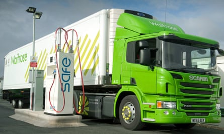 Waitrose has introduced two gas-fuelled Scania tractor units at its RDC at Leyland, as a first step to displacing as much diesel as possible with bio-methane
