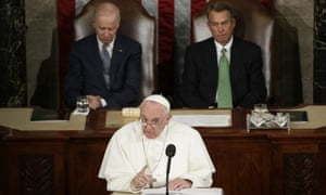 Pope Francis addresses a joint meeting of Congress on Capitol Hill.