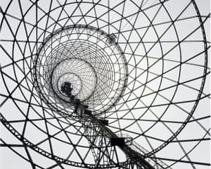The Shukhov radio tower in Moscow.