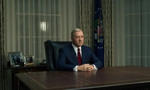 Kevin Spacey as the 'repellently endearing' Frank Underwood in House of Cards