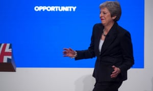 Theresa May dusts off her awkward 'Maybot' dancing once again – this time at the Conservative party conference in Birmingham.