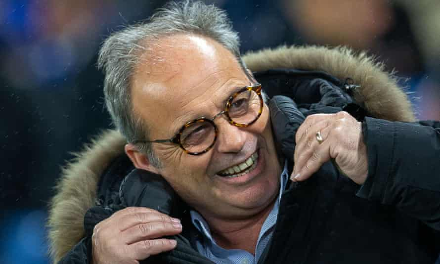 Lille's sporting director Luis Campos, who is wanted by Tottenham, at Chelsea this week.