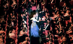 Grace and favour … Kidman dance with host Lambert Wilson at the 2014 opening.