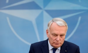 """French foreign minister Jean-Marc Ayrault at the NATO headquarters in Brussels yesterday. He said this morning that there is as yet """"no indication of the causes"""" of the crash of flight MS804"""