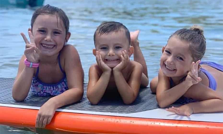 Hannah Clarke's children Aaliyah, 6, Trey, 3, and Laianah, 4