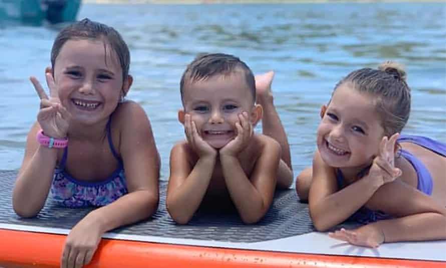 Children of Hannah Clarke and Rowan Baxter, Aaliyah, six, Trey, three, and Laianah, four