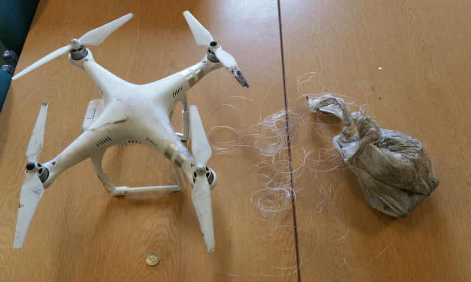 A drone and bag of drugs seized by West Midlands police