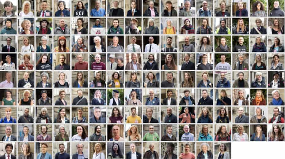 Portraits of 141 Extinction Rebellion protesters who were arrested