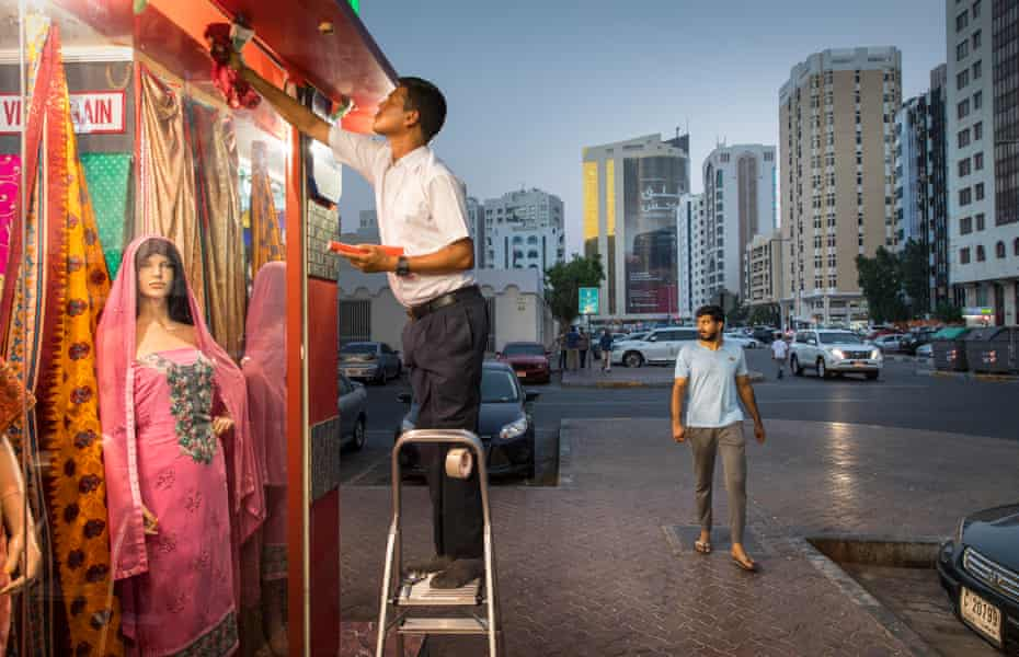 A clothes shop in the Hamdan Street area