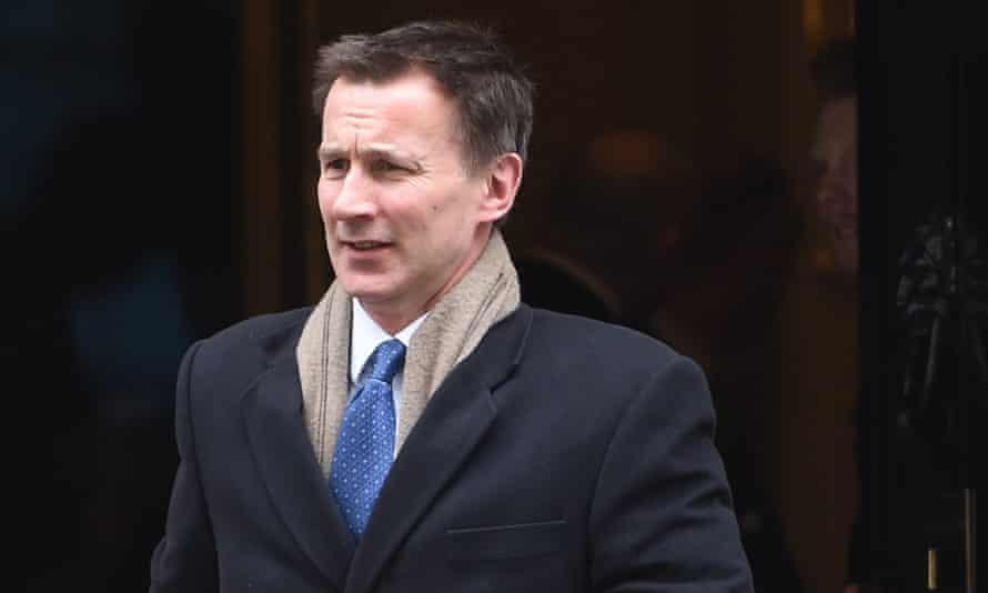 Jeremy Hunt, the health and social care secretary