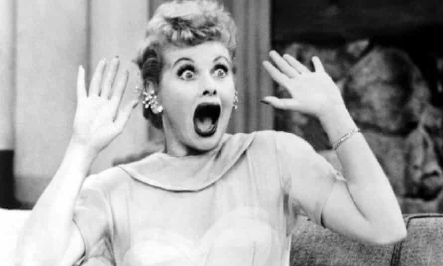 Lucille Ball in I Love Lucy.