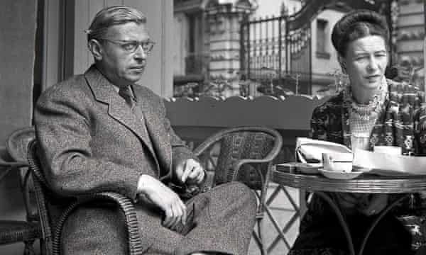Love and liberty … Simone de Beauvoir, right, with Jean-Paul Sartre in Paris, 1940.