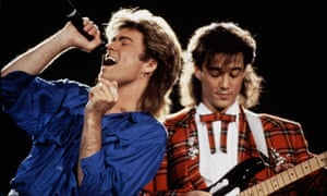 George Michael and Andrew Ridgeley of Wham!