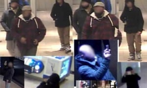 CBC images of men in Vancouver mall