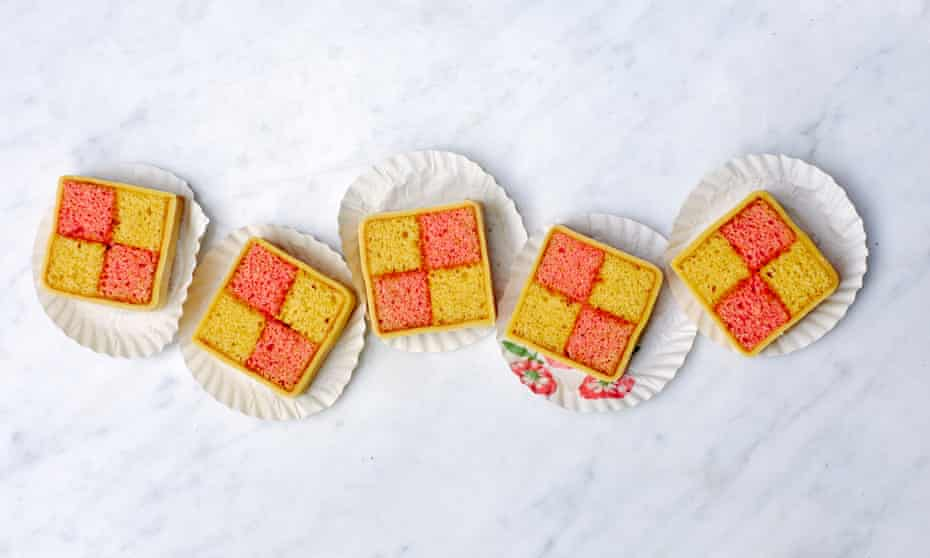 Regal treat – a special tin takes a lot of the effort out of baking this battenburg, but by no means is it necessary
