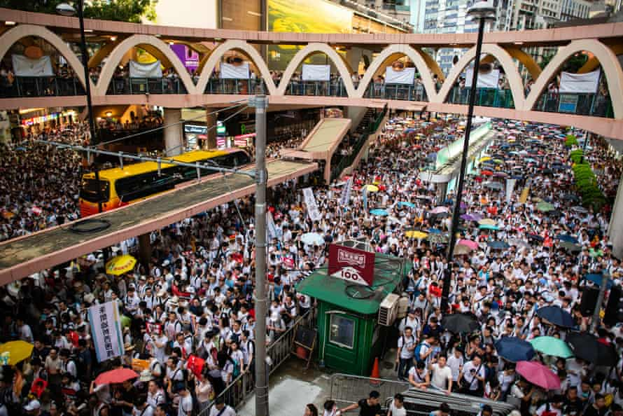 Extradition protests in Hong Kong on 9 June 2019.
