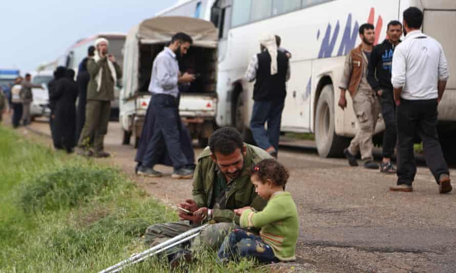 Douma evacuation