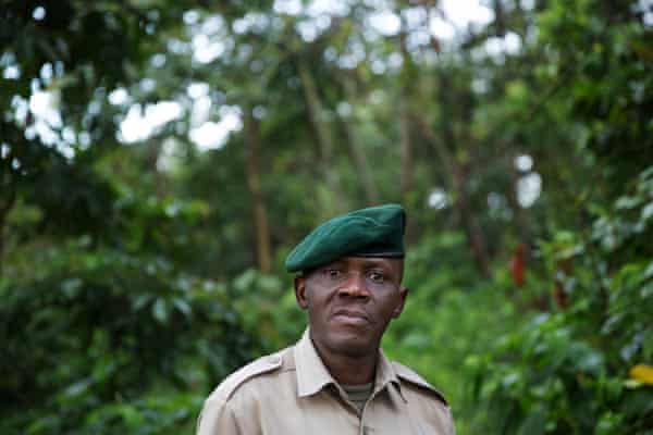 Augustin Kambale is one of the park's senior rangers.