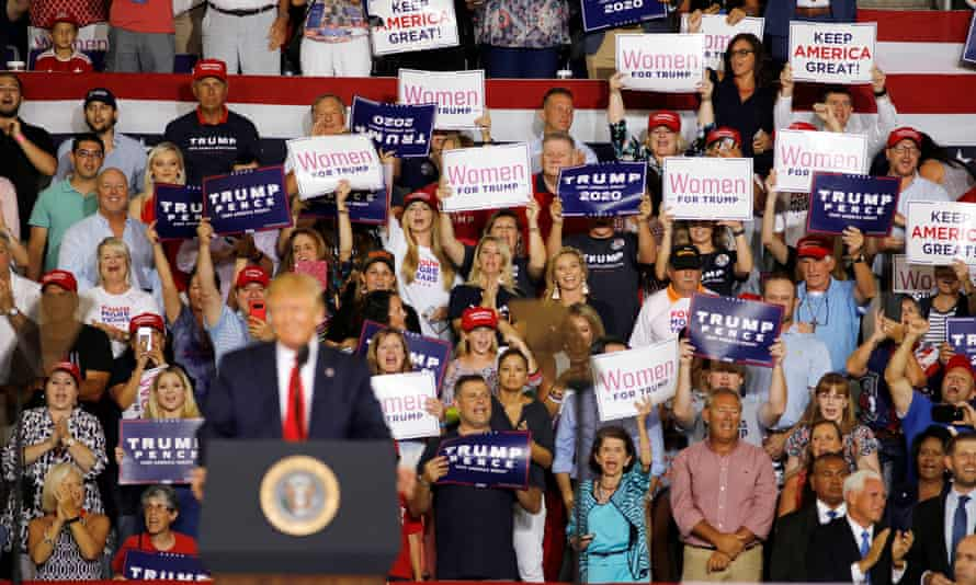 The Trump crowd at his rally in North Carolina on Wednesday.