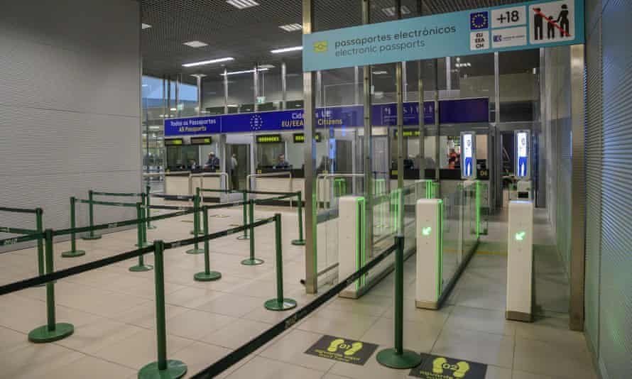 Passport gates at Lisbon airport