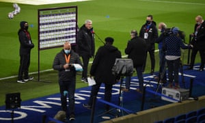 Steve Bruce, manager of Newcastle United, is interviewed by Sky Sports.