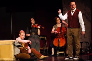 The Transports at the Sage Gateshead on Thursday, with Matthew Crampton as the narrator