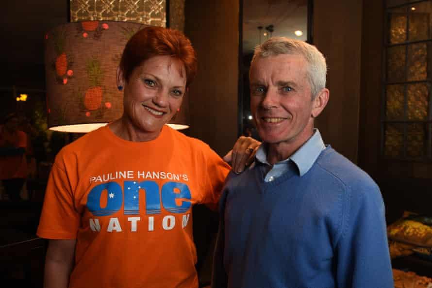 One Nation's Pauline Hanson with fellow senator Malcolm Roberts