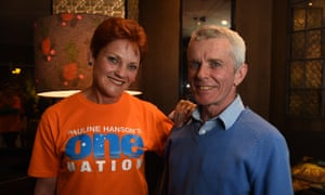 One Nation's Pauline Hanson and climate science sceptic Malcolm Roberts, No 2 on her Queensland Senate ticket