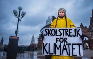 Greta Thunberg outside the Swedish parliament, Stockholm, 2018