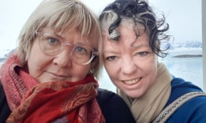 Janet Robertson and Jo Croft in Svalbard in the Arctic circle.