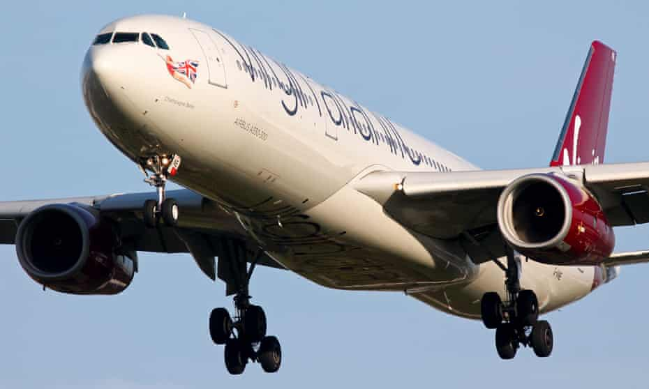 A Virgin Atlantic Airbus A330. All 217 passengers on a flight from JFK to Heathrow were safely evacuated after making an emergency landing in Boston.