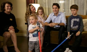 Liberal leader Justin Trudeau family