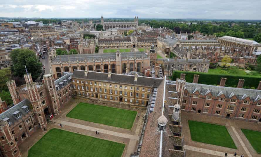 An aerial view of Cambridge University