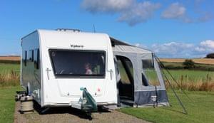The Meeks' touring caravan