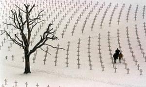 American war graves near the Dutch town of Margraten