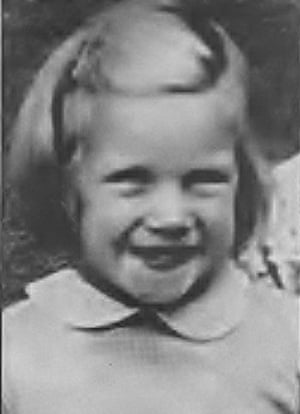 Marcelle O'Brien as a little girl.