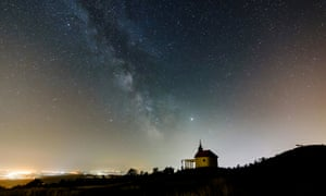 A view of the Milky Way in Hungary.