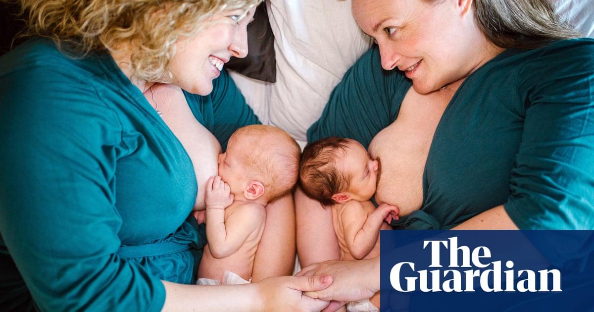 A girl breastfeeding a man