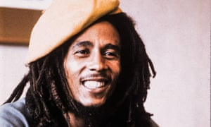 Picture of Bob Marley from the Observer magazine on 17 April 1977.