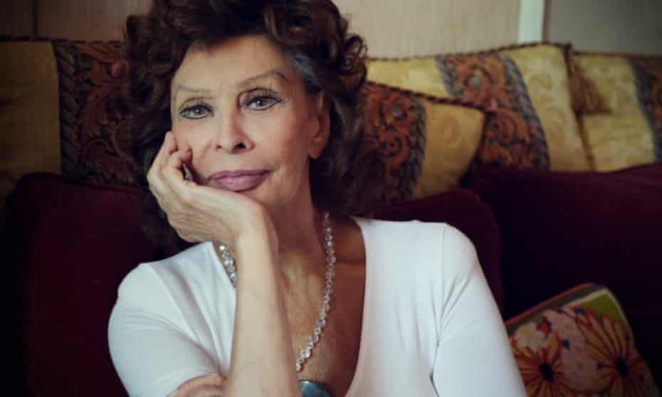 Sophia Loren, photographed by her son Edoardo Ponti, in her house in Geneva in 2020