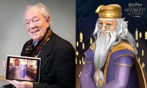 Michael Gambon as Professor Dumbledore in Harry Potter: Hogwarts Mystery.