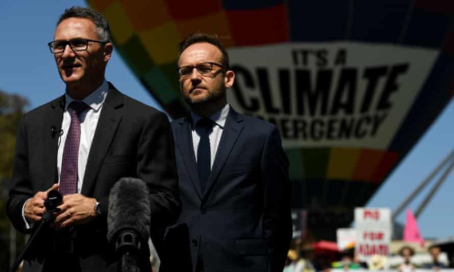 Greens Senator Richard Di Natale (L) and Greens MP Adam Bandt