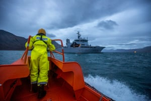 Good fisheries management can only work with good will and effective enforcement. The Norwegian coastguard is the pride of the Norwegian Navy.