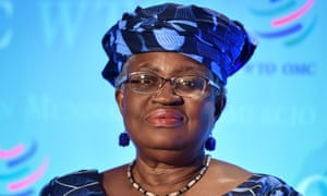 Nigerian former foreign and finance minister Ngozi Okonjo-Iweala attends a press conference on July 15, 2020, in Geneva, following her hearing before World Trade Organization 164 member states' representatives, as part of the application process to head the WTO as director general.