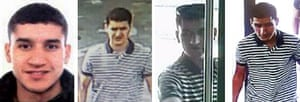 Catalan police released these images of the suspect.