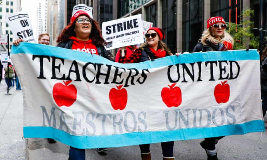 'Together, the coordinated strikes have put more than 30,000 workers on the picket lines – more than 1% of the city's population.'