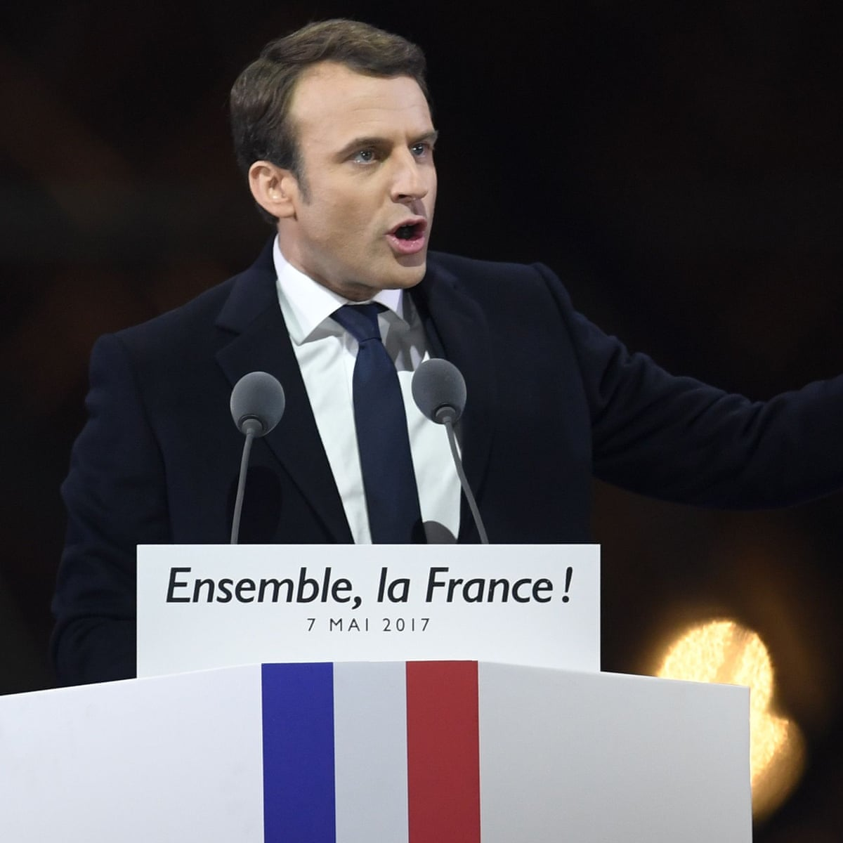 Emmanuel Macron Vows Unity After Winning French Presidential Election World News The Guardian