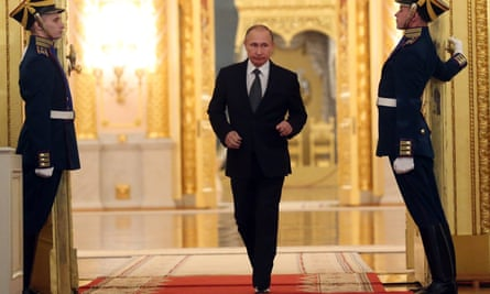 Putin attending a Heroes of the Fatherland's Day reception in the Kremlin