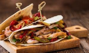 Turkey fajitas – a refreshing change from turkey curry.